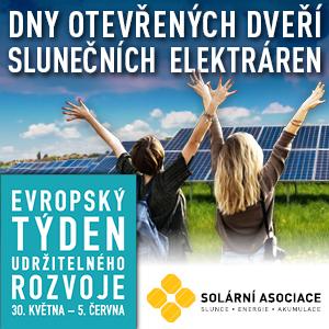 Dny otevřených dveří slunečních elektráren Solární Asociace.